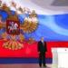 Vladimir Putin em seu discurso de estado da nação (Foto: AP/Alexei Nikolsky)