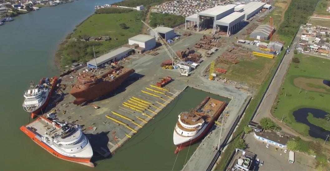 Estaleiro Oceana, em Itajaí, recebera a construção das corvetas da Marinha brasileira