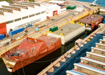 Montagem da POLA da Marinha do Mexico