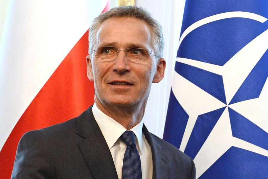 O secretário-geral da OTAN, Jens Stoltenberg, assiste a um evento em Varsóvia, na Polônia, em 28 de maio de 2018. AP