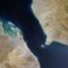 Uma visão de satélite do estreito de Bab el-Mandeb