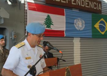 Comandante da Força-Tarefa Marítima (FTM), almirante Eduardo Machado Vazquez