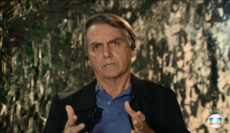 SAO PAULO 29-10-2018 JAIR BOLSONARO TV EXCLUSIVO NACIONAL CANDIDATO ELEITO JAIR BOLSONARO DURANTE ENTREVISTA A TV GLOBO JORNAL NACIONAL FOTO TV GLOBO