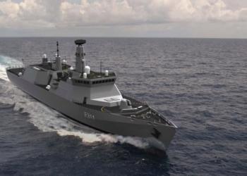 O projeto de construção naval bateu os derrapagens no verão depois que o Ministério da Defesa admitiu que eles não conseguiram atrair propostas suficientes para construir a fragata Tipo 31e (versão conceitual na foto)