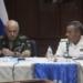 Em Caracas General Petrovich e Almirante Alessandrello durante a reunião. Foto: Marinha da Venezuela.