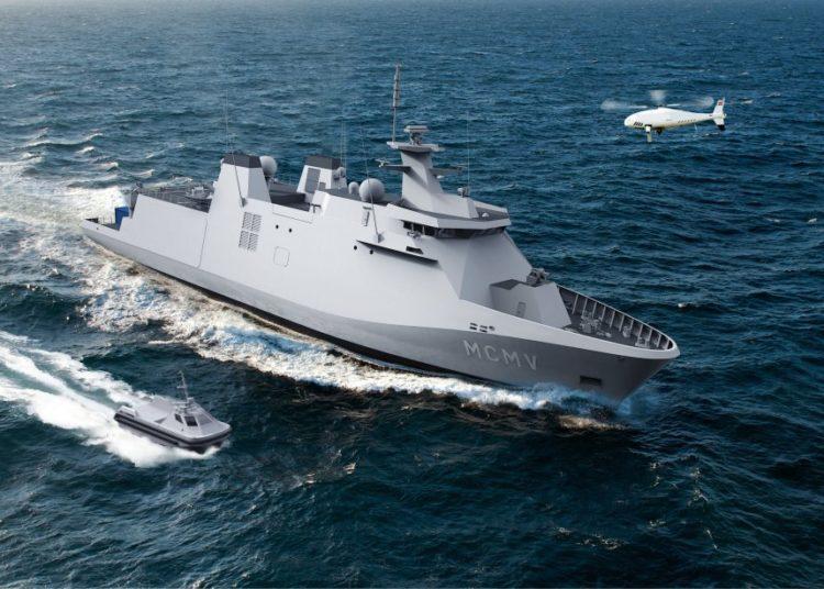Uma ilustração do protótipo do navio-mãe proposto pelo Imtech Belgium - Damen (Fonte: Damen Schelde)