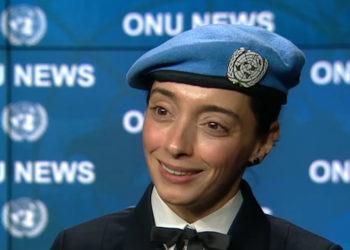 Capitã de Corveta Marcia Andrade Braga foi agraciada com o Prêmio de Defensora Militar da Igualdade de Gênero das Nações Unidas