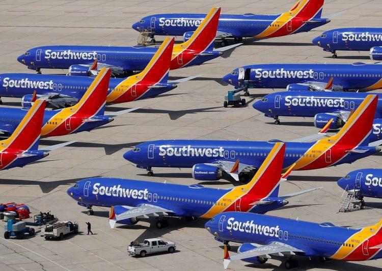 Todos Boeing 737 MAX 8 da Southwest estão proibidos de voar
