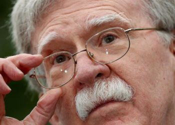 Bolton não ofereceu nenhuma evidência para as acusações durante uma entrevista coletiva em Abu Dhabi [Arquivo: Kevin Lamarque / Reuters]Bolton não ofereceu nenhuma evidência para as acusações durante uma entrevista coletiva em Abu Dhabi [Arquivo: Kevin Lamarque / Reuters]