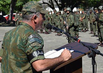Durante a verificação inicial, o presidente da comissão de avaliação transmitiu instruções para os militares do Batalhão Riachuelo