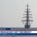 NVe Cisne Branco entrando na Base Naval de Mayport - EUA