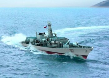 Ilustração da fragata Almirante lynch (FF 07) modernizada - Imagem Lockheed Martin Canadá