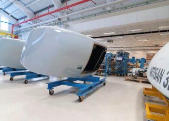 Radares navais Artisan 3D na fábrica da BAE Systems em Cowes-UK