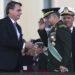 O presidente Jair Bolsonaro, participa da cerimônia do Dia do Soldado, na Concha Acústica do Quartel-General do Exército.