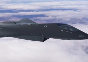 Arte conceitual lançada pelo Laboratório de Pesquisa da Força Aérea em 2018 mostra um potencial conceito de caça de próxima geração, ou FX.