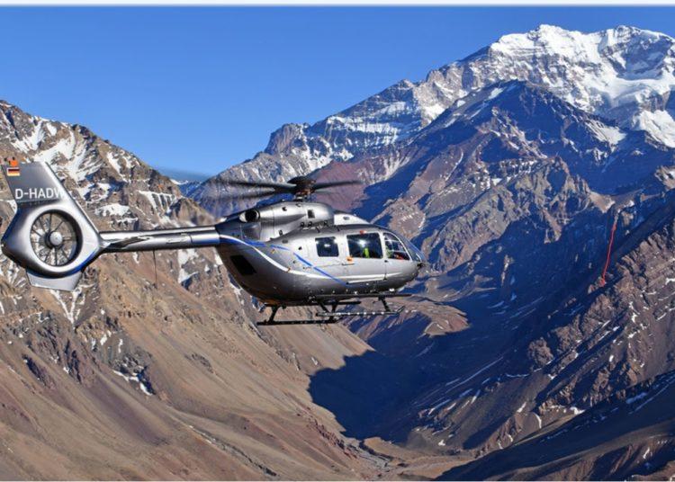 O novo H145 conta com inovador rotor de cinco pás, aumentando em 150 kg sua carga útil. © Anthony Pecchi / Airbus Helicopters