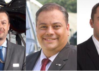 Da esquerda para direita, Sébastien, Alessandro e Henri assumem novos postos para relacionamento ainda mais próximos com os clientes da empresa.