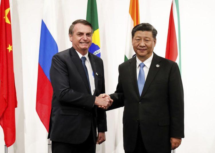 Presidente da República, Jair Bolsonaro, durante recepção ao Presidente da República Popular da China, senhor Xi Jinping.