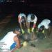 Marinha trabalhando na limpeza da praia de Ipojuca- PE