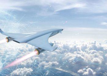 Avião hipersônico - ilustração REACTION ENGINES