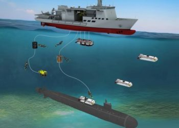Uma impressão artística do futuro navio ASR-II do RoKN Fonte: DSME