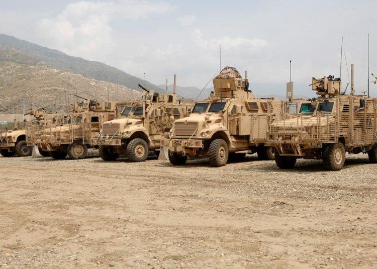 Os veículos MRAP no leste do Afeganistão. Foto MICHAEL ABRAMS