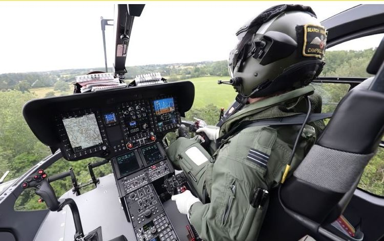 Cockpit Helionix do Airbus H135