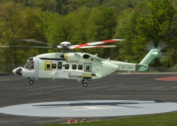 VH-92 em testes de voo na fábrica