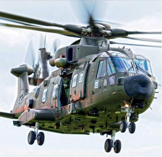 Merlin HC3i ZJ994 'AC' partiu da RNAS Yeovilton em 10 de fevereiro.Foto David Billinge