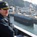 Capitão Brett Crozier, quando comandante do USS Theodore Roosevelt Foto: © Abaca via ZUMA Press)
