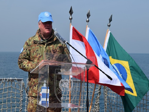 Discurso do Force Commander & Head of Mission, General Stefano Del Col