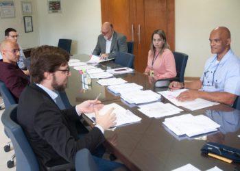 Brig. Eng. Demétrio e Roberto Gallo durante a cerimônia de assinatura do contrato do IFF