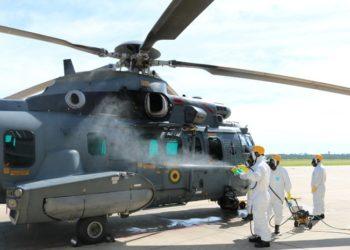 Processo de Desinfecção da Aeronave UH-15, Super Cougar do HU-2