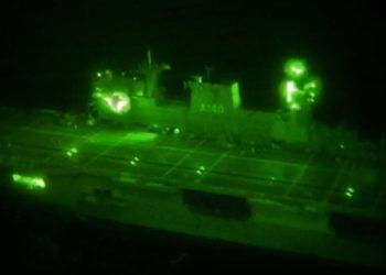 """Sistema de Iluminação do PHM """"Atlântico"""" observado por meio de um OVN"""