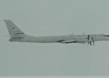 TU-142 voando próximo ao Alaska - Foto NORAD