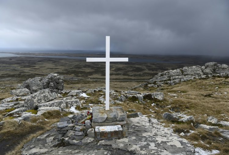 Túmulo de um soldado falecido durante a guerra das Malvinas - AFP