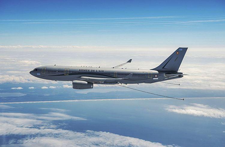 A França terá recebido 15 aeronaves A330 MRTT até que as entregas sejam concluídas em 2022. (Airbus)