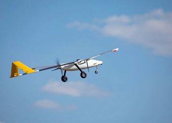 Um dos quatro UAVs de teste não tripulados usados pela Boeing Austrália durante uma recente missão de teste de vôo.