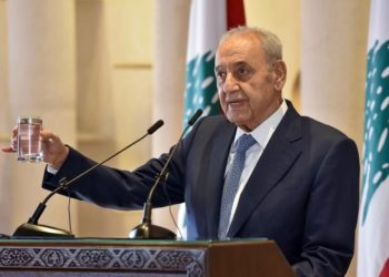 Presidente do Parlamento libanês, Nabih Berri, em 1 de outubro de 2020 em Beirute - LEBANESE PARLIAMENT/AFP