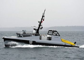 A França e o Reino Unido investiram 300 milhões de euros (£ 184 milhões), para financiar o contrato de produção inicial para suas medidas de combate a minas marítimas desenvolvidas em conjunto, que prevê a entrega dos primeiros quatro conjuntos de sistemas de drones para cada país. (Foto Thales)