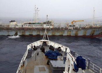 Em abril, o navio pirata chinês Lu Rong Yuan Yu 668 conseguiu fugir para as águas argentinas. (Twitter)