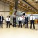 Cdr Daniel da Silva and Portuguese Navy (PtN) accepting Portugal 1 at Leonardo Helicopters, Yeovil.