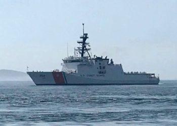 USCGC Stone chegando na cidade do Rio de Janeiro- Foto: Marinha do Brasil
