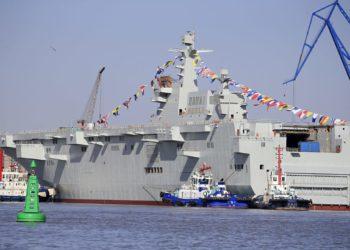 China lançou seu terceiro LHD Type 075