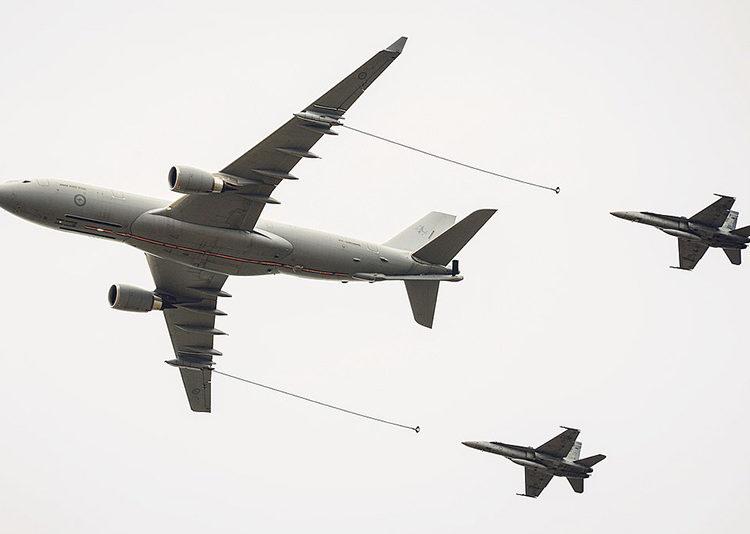 A330 MRTT realizando reabastecimento em voo