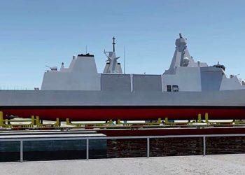 Ilustração da futura fragata Type 31