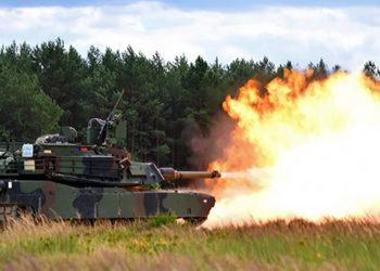 Tanque Abrams M1A2 na Polônia - Foto Jason Johnston