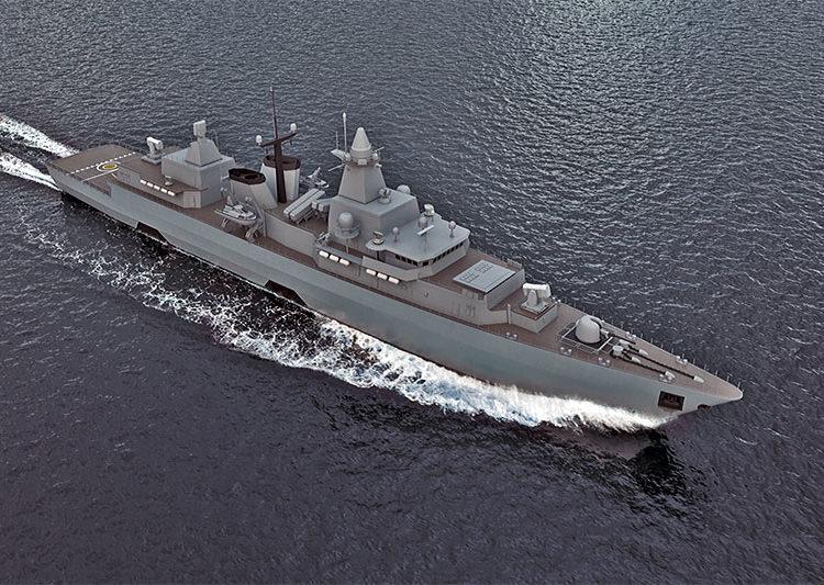 Como ficará a Fragata classe Brandenburg F123 após a modernização