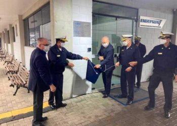 Cerimônia de Descerramento da Placa de Inauguração do novo escritório da EMGEPRON