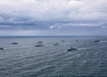 Navios da OTAN participando do Exercício Formidable Shield 21. Foto: Marinha norueguesa